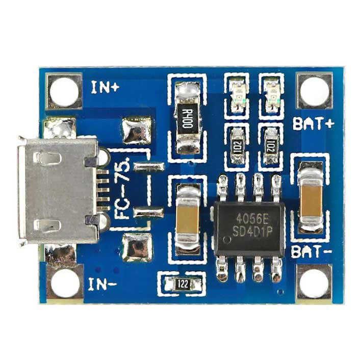 Tp4056 Micro Usb Battery Charging Board Charger Modul