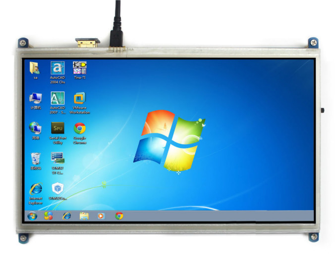 10 1inch HDMI Resistive LCD Touch Screen Display for Raspberry Pi #386